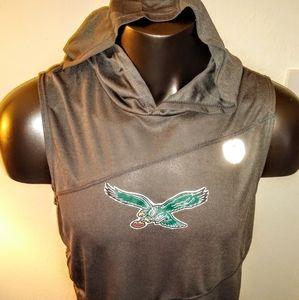 Philadelphia Eagles Sleeveless Hooded Performance